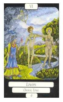 The Lovers Tarot Card - Merry Day Tarot Deck