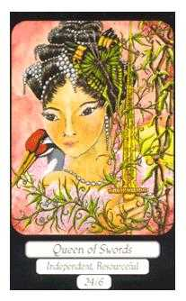 Queen of Swords Tarot Card - Merry Day Tarot Deck