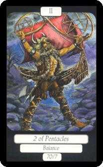 Two of Pentacles Tarot Card - Merry Day Tarot Deck