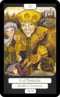 Six of Pentacles Tarot Card - Merry Day Tarot Deck