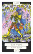 The Fool Tarot card in Merry Day deck