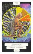 The Hanged Man Tarot card in Merry Day Tarot deck