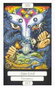 Temperance Tarot card in Merry Day deck