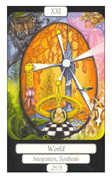 The World Tarot card in Merry Day deck