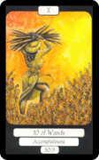 Ten of Wands Tarot card in Merry Day deck