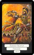Summer Warrior Tarot card in Merry Day deck