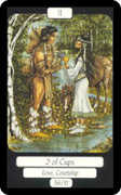 Two of Cups Tarot card in Merry Day Tarot deck