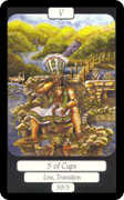 Five of Cups Tarot card in Merry Day deck