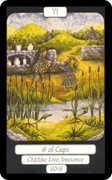 Six of Cups Tarot card in Merry Day Tarot deck