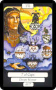 Seven of Cups Tarot card in Merry Day deck