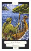 Six of Swords Tarot card in Merry Day deck