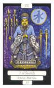 Seven of Swords Tarot card in Merry Day Tarot deck