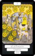 Ten of Coins Tarot card in Merry Day deck