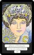 Queen of Coins Tarot card in Merry Day deck