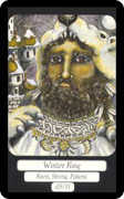 King of Coins Tarot card in Merry Day deck