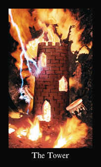 The Blasted Tower Tarot Card - Modern Medieval Tarot Deck