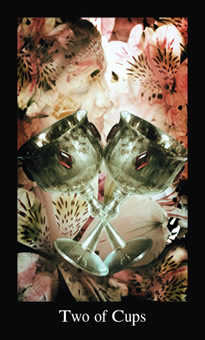 Two of Hearts Tarot Card - Modern Medieval Tarot Deck