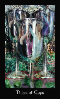 Three of Cups Tarot Card - Modern Medieval Tarot Deck