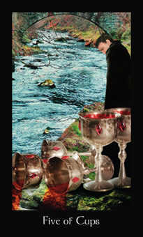 Five of Water Tarot Card - Modern Medieval Tarot Deck
