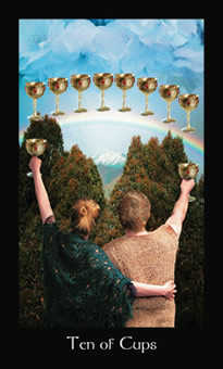 Ten of Cups Tarot Card - Modern Medieval Tarot Deck