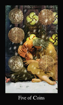 Five of Spheres Tarot Card - Modern Medieval Tarot Deck