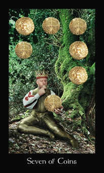 Seven of Earth Tarot Card - Modern Medieval Tarot Deck