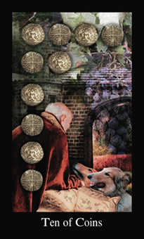 Ten of Coins Tarot Card - Modern Medieval Tarot Deck