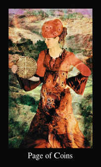 Daughter of Discs Tarot Card - Modern Medieval Tarot Deck