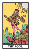 The Fool Tarot card in Modern Witch deck