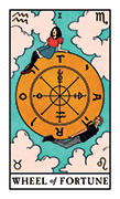 Wheel of Fortune Tarot card in Modern Witch deck