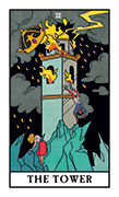 The Tower Tarot card in Modern Witch deck