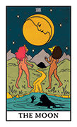 The Moon Tarot card in Modern Witch deck