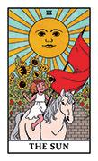 The Sun Tarot card in Modern Witch deck