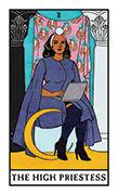 The High Priestess Tarot card in Modern Witch deck