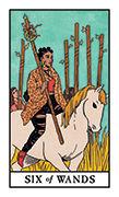 Six of Wands Tarot card in Modern Witch deck