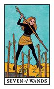 Seven of Wands Tarot card in Modern Witch deck