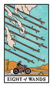 Eight of Wands Tarot card in Modern Witch deck