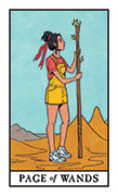 Page of Wands Tarot card in Modern Witch deck