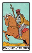 Knight of Wands Tarot card in Modern Witch deck