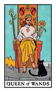 Queen of Wands Tarot card in Modern Witch deck
