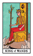 King of Wands Tarot card in Modern Witch deck
