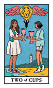 Two of Cups Tarot card in Modern Witch deck
