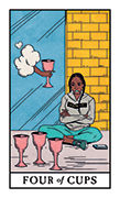 Four of Cups Tarot card in Modern Witch deck