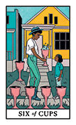 Six of Cups Tarot card in Modern Witch deck