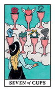 Seven of Cups Tarot card in Modern Witch deck