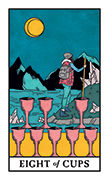 Eight of Cups Tarot card in Modern Witch deck