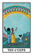 Ten of Cups Tarot card in Modern Witch deck