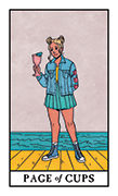Page of Cups Tarot card in Modern Witch deck