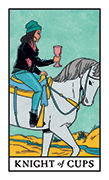 Knight of Cups Tarot card in Modern Witch deck
