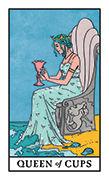 Queen of Cups Tarot card in Modern Witch deck